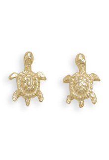 Gold Plated Turtle Earrings