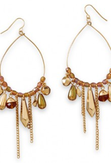 Peach & Gold Earrings