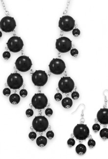 Black Bubble Bead Necklace