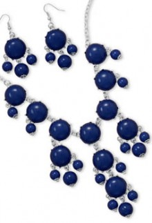Navy Bubble Bead Necklace