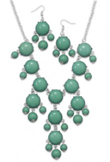 Aqua Green Bubble Bead Necklace