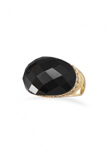 14K Gold & Black Onyx Ring