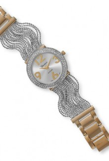 Two Tone Multistrand Watch