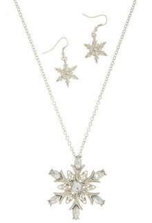 Silver-Colored Snowflake Necklace